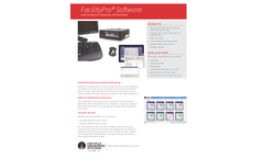 FacilityPro - Data Management, Reporting and Automation Software - Brochure