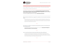 Leveraging Microbial Contamination Monitoring Data Frequently Asked Questions - Applications Note