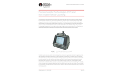 Process Analytic Technologies (PAT) and Non-Viable Particle Counting - Applications Note
