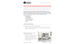 Combining Particle and Microbial Sensors to Fully Meet Regulatory Requirements Frequently Asked Questions - Applications Note