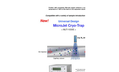 MicroJet Cryo-Trap - Model MJT-1035E - Sample Controller Introduction Devices - Brochure