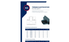 Model PE100 SDR11 - Red. Electrofusion Tee Brochure