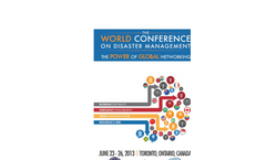 The World Conference on Disaster Management (WCDM) 2013 - Brochure