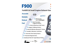 E Instruments - Model F900 - Forklift & Small Engine Exhaust Gas Analyzer Brochure