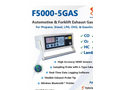 E Instruments - Model F5000-5GAS - Portable Vehicle Exhaust Gas Analyzer Brochure