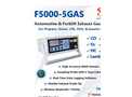E Instruments - Model F5000-5GAS - Portable Vehicle Exhaust Gas Analyzer Brochure