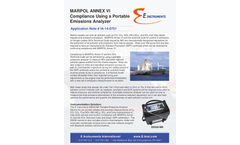 Portable Emissions Analyzer for Marine - Brochure