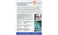 Portable Gas Leak Detector for Combustion Gas Leak Detection  Brochure