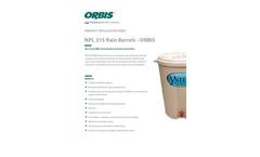 Model NPL 315 - Rain Barrels Brochure