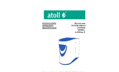 Model А-550 box STD - Reverse-osmosis Water Treatment System Manual