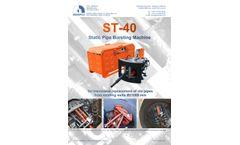 Mempex - Model ST-40 - Pipeline Replacement Machine - Brochure