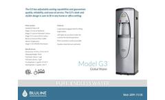 Bluline - Model G3 - Countertop Replacement Filter Brochurer Brochure