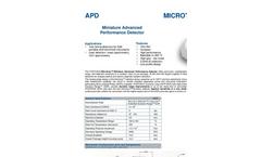 Microtron - Model APD - Miniature Advanced Performance Detector Brochure