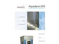 Aquadyne - Model DVS-1, DVS-2, DVS-2HT - Gravimetric Water Vapor Sorption Analyzers Brochure