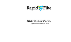 Rapid Filter Inc Catalogue