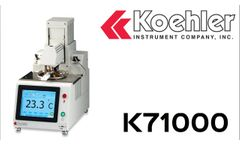 K71000 - Automatic Pensky-Martens Closed Cup Flash Point Tester (Promotional Video) [English] - Video