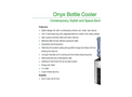 Onyx - Model SKU: B1CCTHS - Countertop Bottle Coolers Brochure