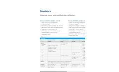 Sika - Model UC - Universal Mono and Multifunction Calibrator Brochure