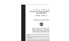 Eclipse - R.O Drinking Water Filtration Systems - Datasheet