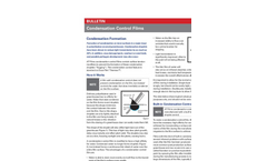 Condensation Control Films Bulletin
