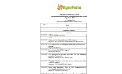 AgroFarm Exhibition - 2015 Technical Programme