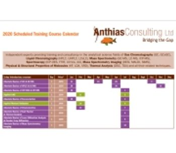 Latest analytical training calendar from Anthias Consulting - now available
