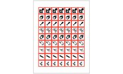 Model GHS-PIC-1 - Pictogram Label Sheets for GHS Compliance
