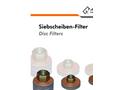 Disc Filters - Datasheet