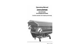 Profis - Model ZA-M - Centrifugal Broadcaster Brochure
