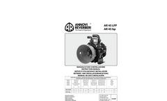 Viton - Model AR 45 bp SP - Low Pressure Diaphragm Pumps Brochure