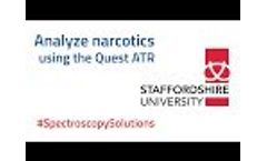 Analyzing Narcotics and Legal Highs Using ATR-FTIR - Spectroscopy Solutions Video