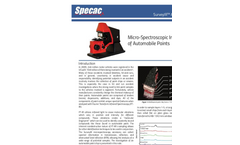 Micro-Spectroscopic Interrogation of Automobile Paints - Application Note