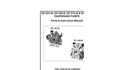 Model DP-291-B, DP-428-B, DP-375-B & DP-481-B - Diaphragm Pumps Manual
