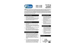 12v DC Agri-Pump - Installation and Operation Manual