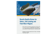 Busatis - Knives for Balers, Self-Loading and Feed Mixer Wagons Brochure