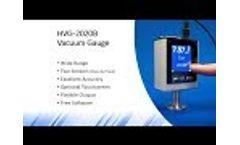 Digital Vacuum Gauge - HVG-2020B - Video