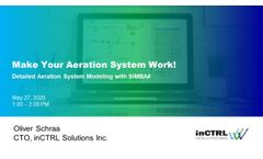 Webinar - Make Your Aeration System Work - Detailed Aeration System Modeling in SIMBA# - Video