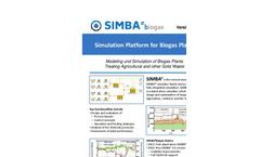 SIMBA#biogas - Version 2.0 - Biogas Plant Simulation Software - Brochure