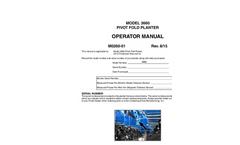 KINZE - Model 3660 - Row Crop Planters Manual