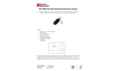Deeter - Model RPS-409A-IS2 - Intrinsically Safe Self-Contained Ultrasonic Sensor Brochure