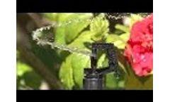 Antelco Rotor Rain Mini Irrigation Sprinkler Installation Video Video