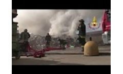 Fire at the Mortara Waste Plant (PV) Video