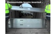 Demountable Flood Barriers at Royal William Yard, Plymouth Video