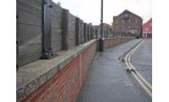 Glass Flood Barrier in Wells by Flood Control International Video