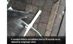 Flood Barrier Inflating Seal Technology Demonstration Video
