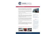 FloodControl - Drop-Down Automatic Flood Barriers - Brochure