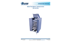 Gilson Test-Master - Model TM - Testing Screens Brochure