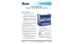 Gilson - Model SP - Universal Sample Splitters Brochure