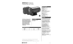Pentair Berkeley - Model FH Series - Shallow Well Cast Iron Jet Pump - Brochure
