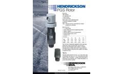 Hendrickson - Model PGS - Rotor Sprinklers Brochure